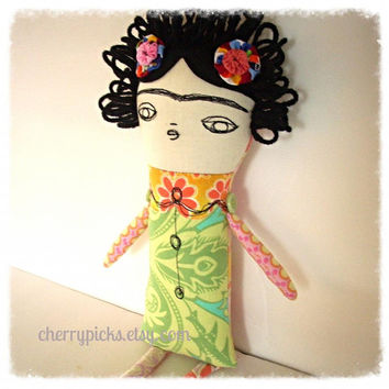 Frida Kahlo Art Doll