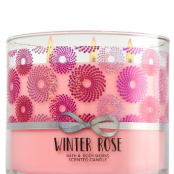 3-Wick Candle Winter Rose