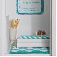 Teal Dottie Locker Rug