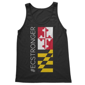 #ECSTRONGER Ellicott City Maryland Flag Side Print (Black) / Tank