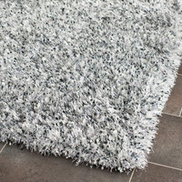Safavieh MLS431S-24 Malibu Shag Silver Rectangular: 2 Ft. 6 In. x 4 Ft. In. Accent Rug - (In Rectangular)