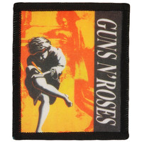 Guns N Roses Men's Use Your Illusion #1 Screen Printed Patch Black