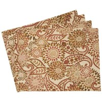 Cloth Placemats - Sheffield Home Protective Decorative Cloth Placemats (Set of 4) (Beige)
