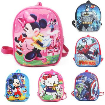 Hello Kitty Cartoon Plush School Backpack For Kids Mickey Minnie Students In School Bags Children Backpacks Mochila Infantil