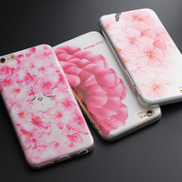 Flower Cactus 3D Relief Silicone Case For iphone 7 7plus for iphone 5s 5 SE 6 6s 6plus Case TPU Case Daisy Phone Case -0328
