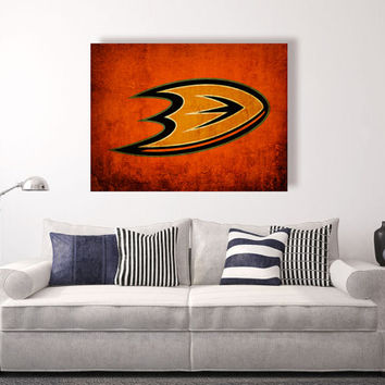 Anaheim Ducks vintage style Canvas Print, Wall Art, Wall Decor, Vintage, Grunge