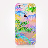 Transparent Palm Leaves iPhone Case- Transparent Case - Clear Case - Transparent iPhone 6 - Transparent iPhone 5 - Transparent iPhone 4