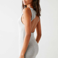 Silence + Noise Minimal Cut Out Back Charcoal Mini Dress - Urban Outfitters