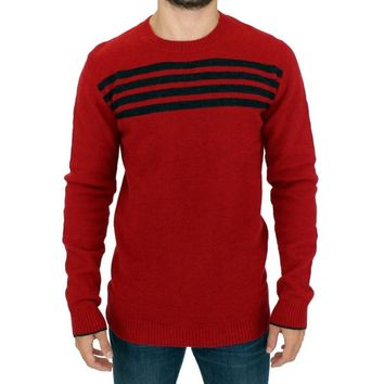 Costume National Red striped crewneck sweater