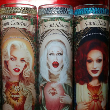 Sharon Needles of Drag Race  - Queens Celebrity Saint Prayer Candles