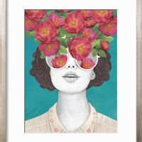 The Optimistrosetinted Glasses Art Print by Laura Graves | the NEW Art.com