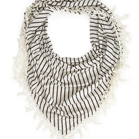 Shore Girl Crocheted Triangle Scarf