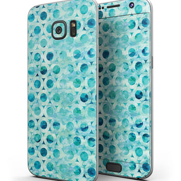Blue Watercolor Stars - Full Body Skin-Kit for the Samsung Galaxy S7 or S7 Edge
