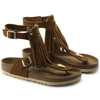 DCCK1 Birkenstock Gizeh High Nubuck Leather Mink 1004976 Sandals