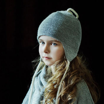 Baby Alpaca Wool Double Layer Knit Hat