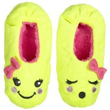 Emoji Cozy Slippers | Girls Sleep & Undies {parent_category} | Shop Justice