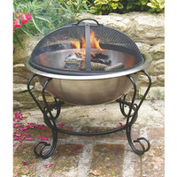 Dual Purpose Fire Pit and Iced Beverage Holder  @ Sharper Image