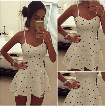 Sexy Women Summer Beach Sleeveless Casual Short Mini Dress Fashion Ladies Sleeveless Dress Women Clothing