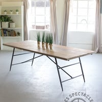 Numéro 2 Wooden Dining Table with Metal Base