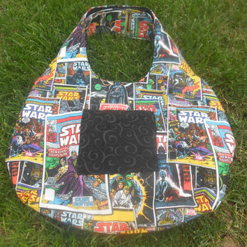 Star wars reversible hobo style diaper bag, tote bag, purse
