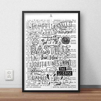 Bastille Bad Blood, (Instant Download) , 300 dpi, Awesome Design Printing