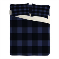 Allyson Johnson Woodsy Blue Plaid Sheet Set Lightweight