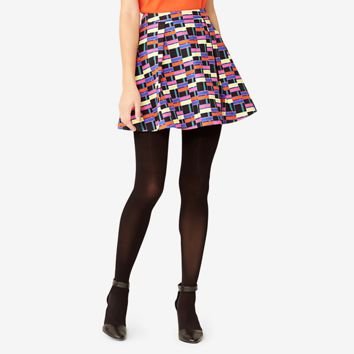 Kate Spade Saturday Deep Pleat Mini Skirt In Dancing Plaid