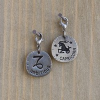 Capricorn  Zodiac  Junk  Market  Charm  From  Natural  Life