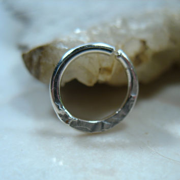 Septum & Nipple Ring Sterling Silver Chiseled