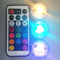 20pcs Wedding Decoration Remote Control Submersible LED Party Tea Table Mini Light With Battery For Marriage Halloween Christmas