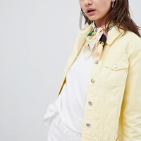 Urban Bliss Distressed Trucker Denim Jacket at asos.com
