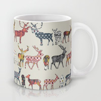 oatmeal spice deer Mug by Sharon Turner