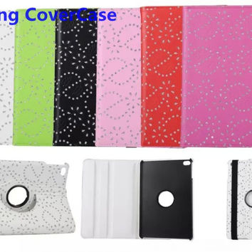 Crystal Palace Cover for iPad mini 4 Case Bling Protector Shell for iPad mini 4 Cases 360 Degree Rotating Cover for iPad mini 4