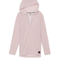 Lace-Up Varsity Pullover - PINK - Victoria's Secret