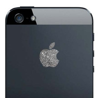 iPhone 5 Sparkling Silver Apple Decal