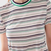 Project Social T Striped Tipped Tee | Urban Outfitters