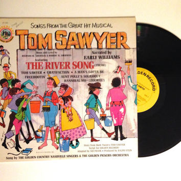Rare Vinyl Record Songs From The Great Musical Tom Sawyer Narrated By Early Williams LP Album Childrens 1973 Kids