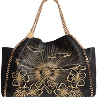 Stella McCartney Embroidered Reversible Faux Leather Tote | Nordstrom