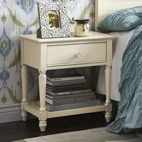 Cottage Nightstand - Antique White