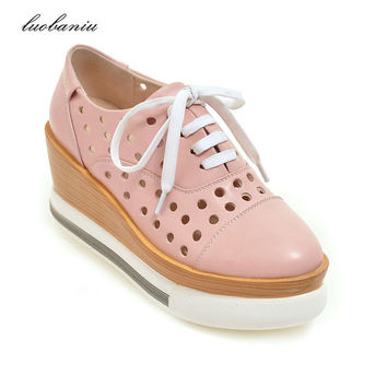 35-42 Fashion Women Summer Shoes Breathable Platform Shoes Women Wedges Shoes High Quality