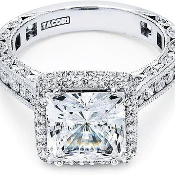 Tacori RoyalT Princess Cut Halo Diamond Engagement Ring