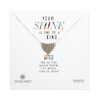 Small Fringe Chevron Necklace, Sterling Silver | Dogeared