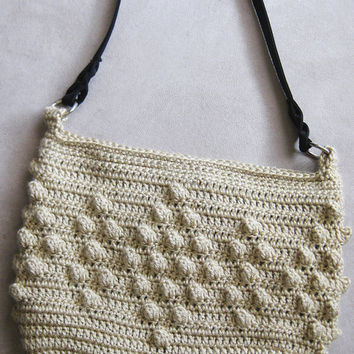 Crochet Pattern Popcorn Purse