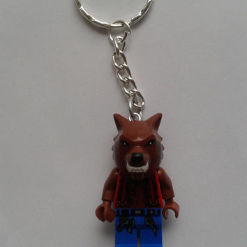Monsters Werewolf  keychain keyring  made with LEGO®   minifigure