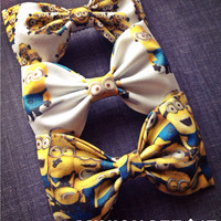Minion fabric bow tie hair bow set get 3 for 15