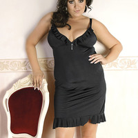 sexy erotic lingerie Nightwear Chemise negligee big plus queen size XL 2xl 3xl 4xl for bbw 2x 3x 4x X EU 48 50 52 54 56 UK 14 16 18 20 22 24