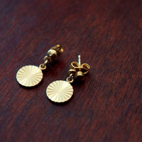 Vintage Brass Earrings, Gift for Her, Vintage Jewelry