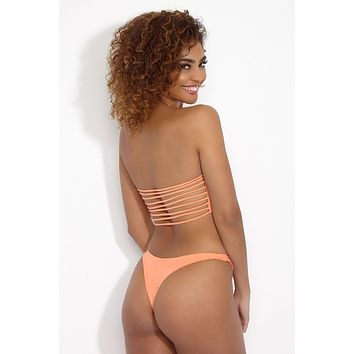 Kristina High Cut Bottom - Peach Sorbet