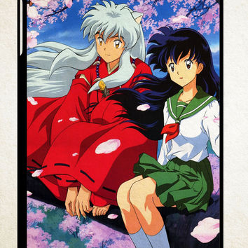 Inuyasha Kagome X1619 iPad 2 3 4, iPad Mini 1 2 3, iPad Air 1 2 , Galaxy Tab 1 2 3, Galaxy Note 8.0 Cases