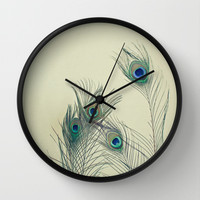 All Eyes Are on You Wall Clock by Cassia Beck